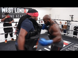 'MIKE TYSON... ONE TIME!' - CARLOS TAKAM ATTACKS THE BODY WITH COACH DEWEY COOPER IN LONDON