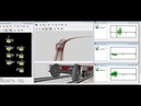 Simulation of running behavior of a passenger car on balanced and operated speeds at R180m curve