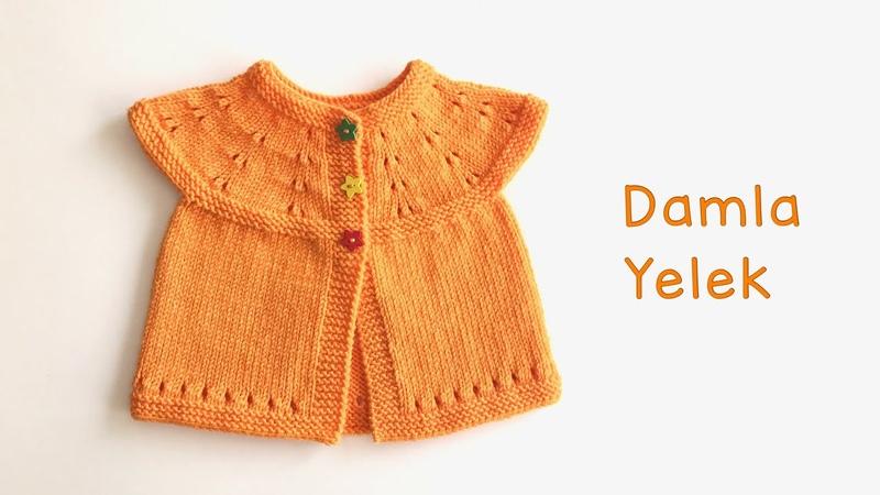 Damla Yelek Yenidoğan Bebek Yeleği Kolay Robadan Bebek Yeleği Yapımı Easy Baby Vest