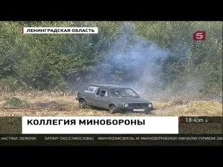 Сергей Шойгу осмотрел военный полигон Ржевка в Петербурге