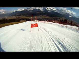 Go Pro Hero HD Alpine ski racing Maarten Meiners giant slalom training