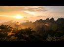 Рассвет в горах Хуаншань (黄山)