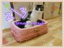 Вязаный кошкин дом крючком 2 часть