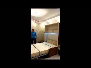 Подъемная кровать трансформер с диваном