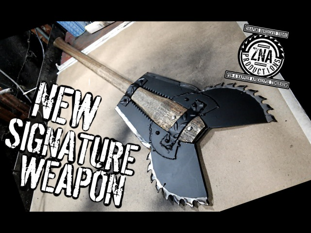 How to Make The Vulture Double Bladed Saw Blade Battleaxe