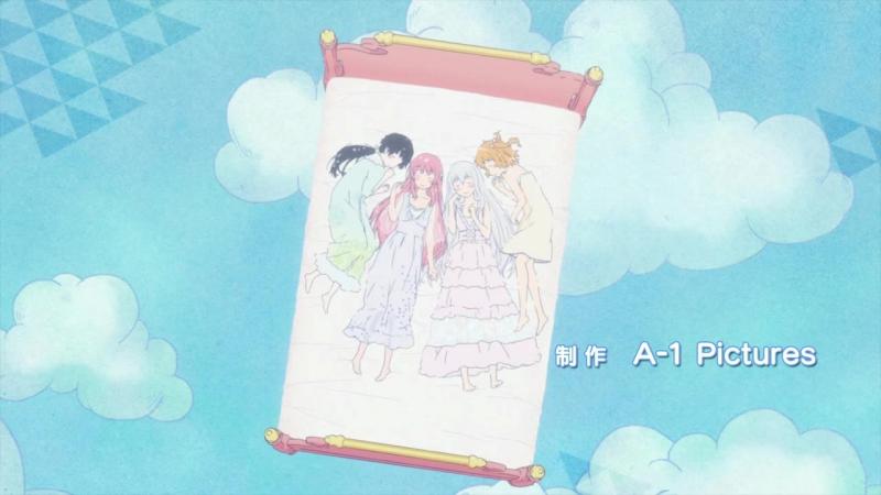 Эндинг из аниме Меж двух огней Девушки и подруги детства