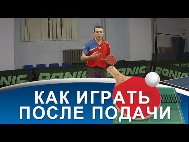 ТАКТИКА ИГРЫ ПОСЛЕ ПОДАЧИ ПОДАЧА в настольном теннисе
