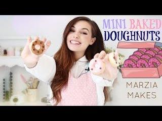 MINI BAKED DOUGHNUTS   Marzia Makes