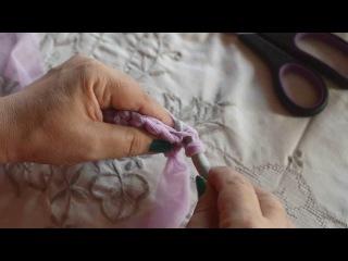 tutorial#7 parte 1 - come realizzare una pochette in fettuccia tulle