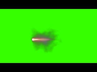 Muzzle Flashes Automatic Gun 5 - green screen