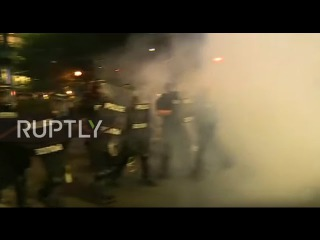 USA: Violence erupts in Charlotte as hundreds protest Keith Scott fatal police shooting