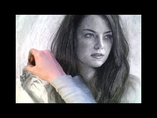 A closer look at my drawing of Emma Stone process
