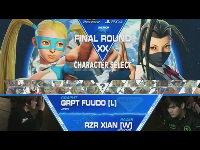 SFV GRPT|Fuudo vs RZR|Xian - Final Round XX Grand Finals - CPT2017