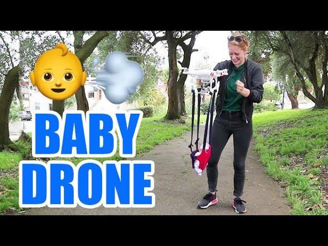 Simone Giertz и дрон для переноски детей