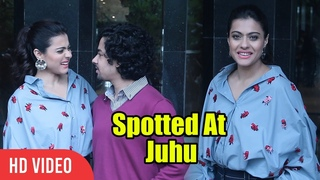 Kajol And Riddhi Sen Spotted At Juhu | Promoting Helicopter Eela