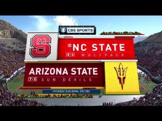 NCAAF 2017 / Hyundai Sun Bowl / (24) North Carolina State Wolfpack - Arizona State Sun Devils / 1H /  / EN