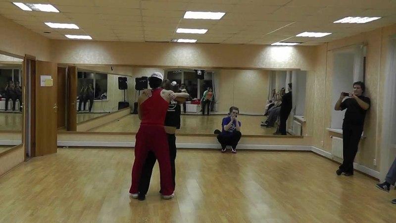 Zouk Class 21 11 11 at Brazuka Dance School Wakko Oliviér Маша Величкина