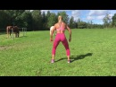 Swedish fitness model Katarina Konows body weight leg/butt workout in Sweden 🇸🇪