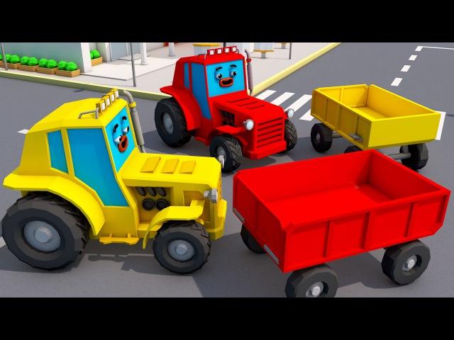 Traktor Traktorki Zabawa i Praca Agricultural Machinery Tractor Fairy Samochody Bajka