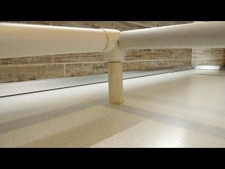Принцип изготовления углового соединения из полипропиленовых труб для каркаса бокового тента