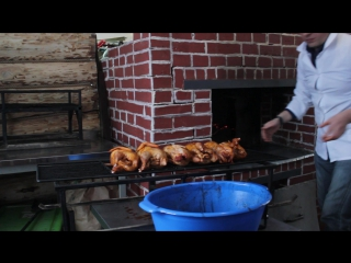 Готовим фазана в русской печи