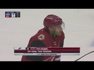Alex Goligoski scores off Crouse's nice feed 12/10/16