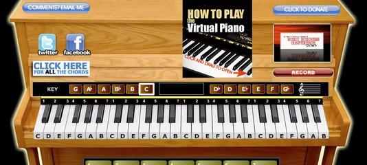 Пианино онлайн – играть на клавиатуре. Виртуальное пианино, фортепиано, рояль.