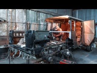 Самодельный Brabus G 500 6x6, рама готова делаем кузов.