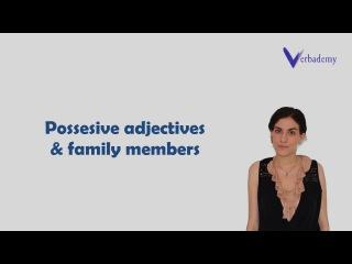 Learn Italian language -Lesson 20-Italian possessive adjectives and family members