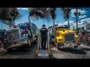 Драг рейсинг, соревнования, гонки на грузовиках, фурах Trucks Drag Racing. American Big Rig Truck Show Фестиваль АМЕРИКАНСКИХ ГРУЗОВИКОВ.