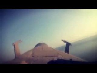 Полёт вертолётаМИ-28Н вдоль береговой линии в сирийской Латакии. Видео из кабины пилота