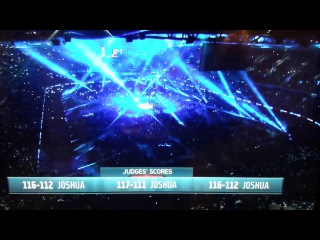 Takam/Joshua fixed? Judges scorecards flashed on screen before fight!