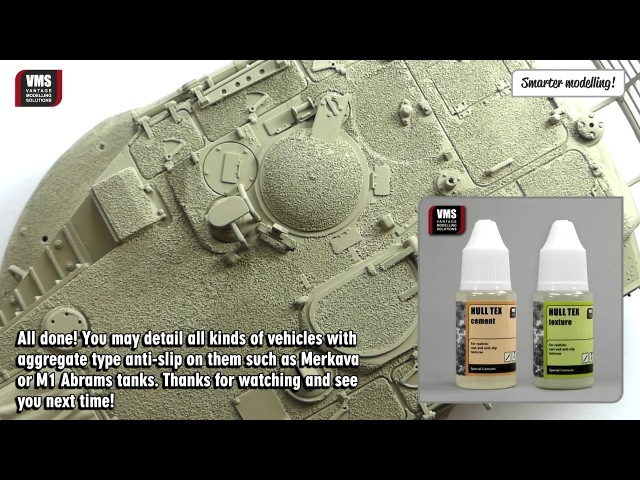 How to make anti slip coating on a tank model - VMS Hull Tex tutorial