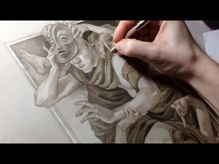 Painting Process - Jack of Clubs: Humility