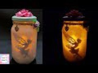 Fairy Lantern Tutorial/DIY: Fairy Glow Jars | No Tissue Paper |