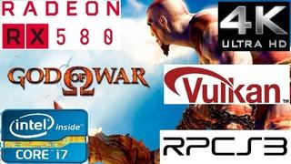 RPCS3  (Ps3) - God of War HD (4K) 2160p - Vulkan - 60fps - 3770k - Rx 580 - Gameplay Benchmark.