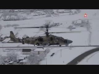 «Аллигатор» над городом: опубликованы кадры маневров экипажа вертолета Ка-52