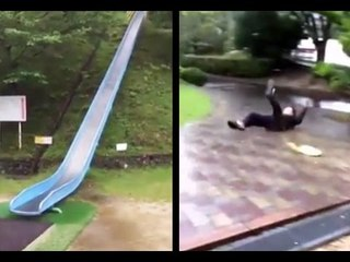 This Crazy Japanese Slide Is Not Recommended For Beginners