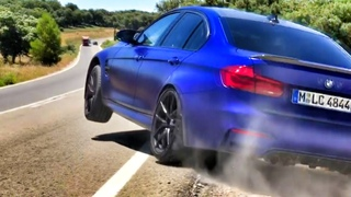 Оффроад на BMW M3 CS?! 460 л.с. – тест крутой версии баварского седана на дорогах Испании + BURNOUT!