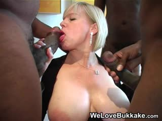 Dawn's Anal Gangbang Big Tits, Blowjob, Bukkake, Cumshot, Facial, Huge cocks, Interracial, Mature, MILF, Sperm