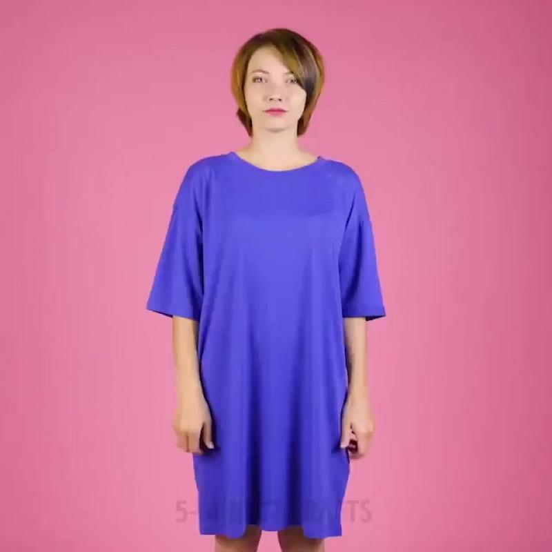 Необычная юбка своими руками из длинной футболки=)