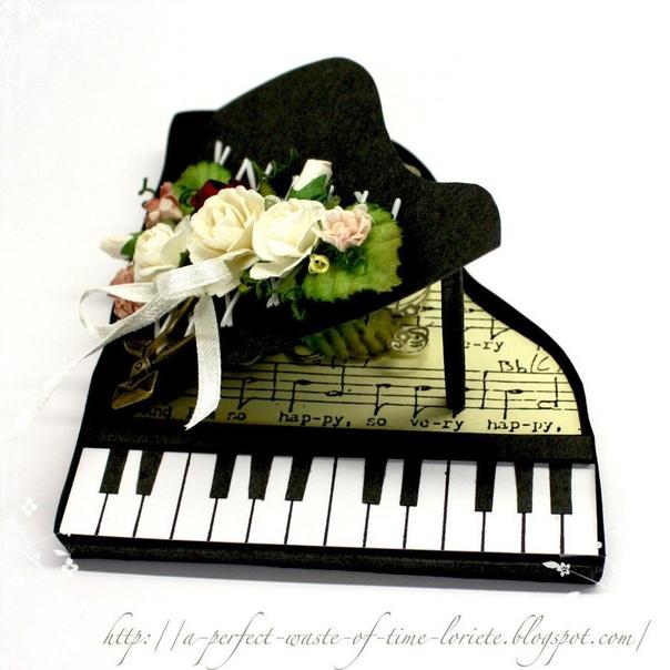 поздравительная открытка с роялем выглядел неопрятно стеснялся