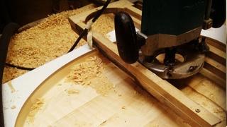 Как сделать деревянное блюдо всего двумя фрезами, Табак или Астау под Бешбармак из Кедра.