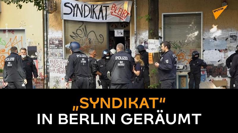 """""""Mehr als nur eine Kneipe"""" – """"Syndikat"""" in Berlin geräumt"""
