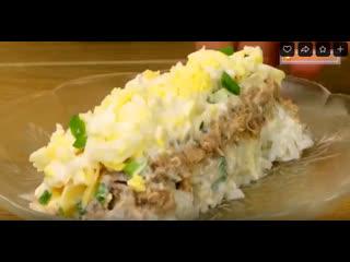 """Одна из самых популярных рыбных закусок - """"Салат с тунцом"""".  И готовится просто!"""