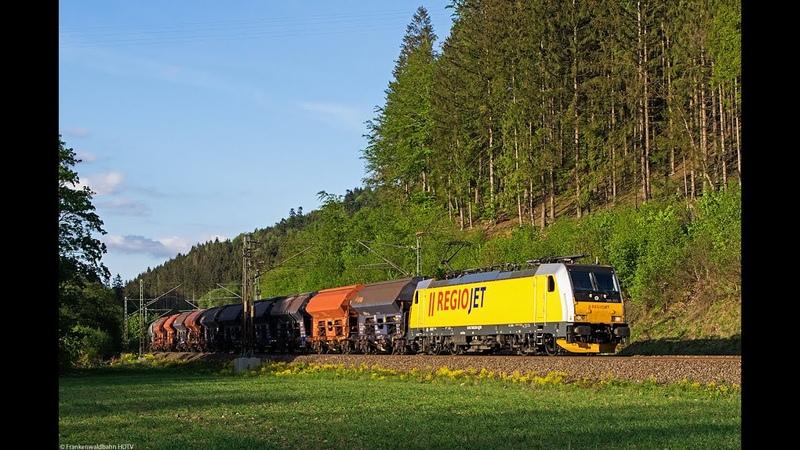 Güterzüge auf der Schiefen Ebene RegioJet Delta Rail Sbw Sandzug EBS uvm auf der Frankenwaldbahn