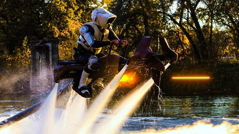 Star Wars - Speeder Bike Jetovator Battle in Real Life Behind The Scenes
