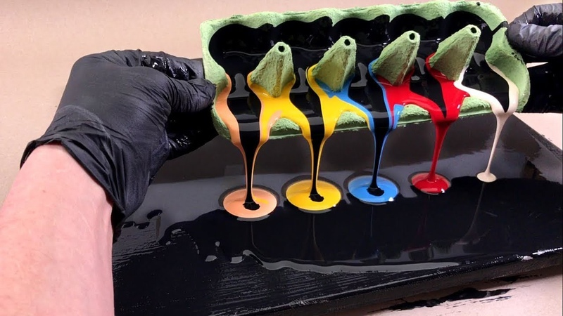 Egg carton liquid art you should see Fluid abstract painting by tiktus