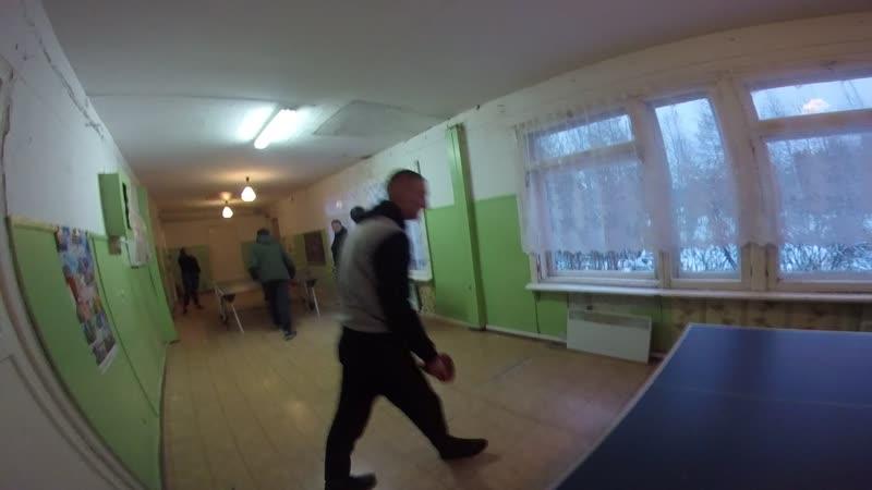 🎬5 Разминка разогрев п Поляна Турнир по настольному теннису 04 11 2019