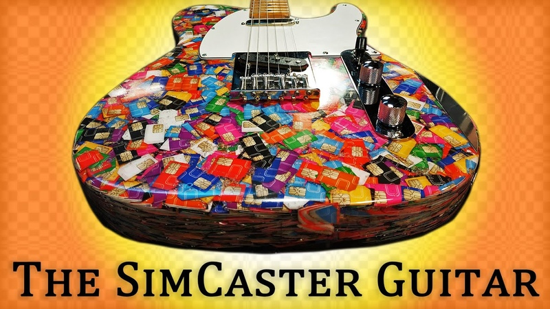 Telecaster Electric Guitar Build From 13 000 Sim Cards Video